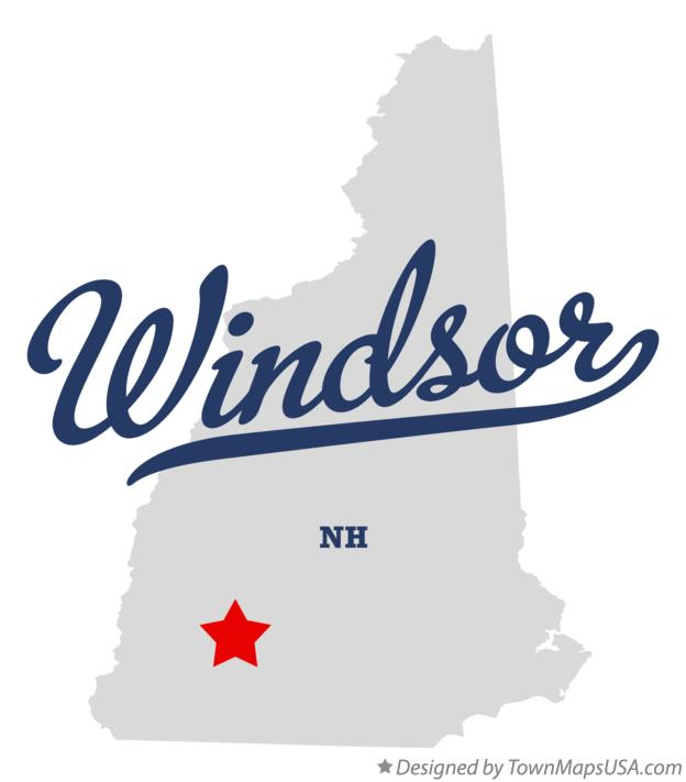 Map of Windsor New Hampshire NH