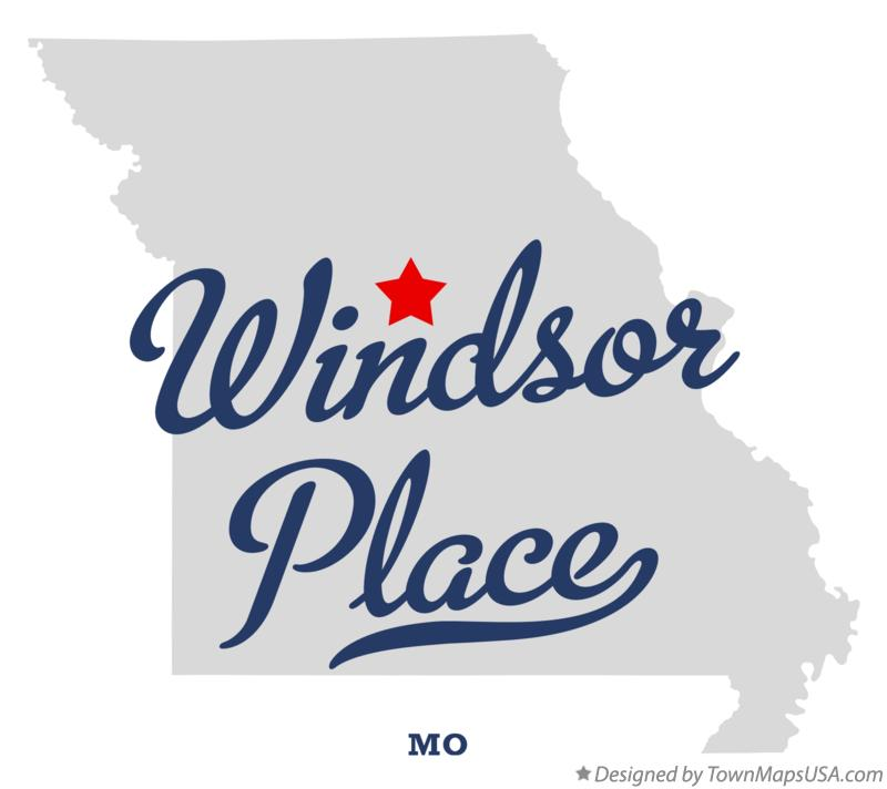 Map of Windsor Place Missouri MO