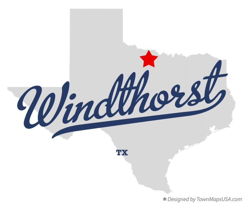 Map of Windthorst Texas TX