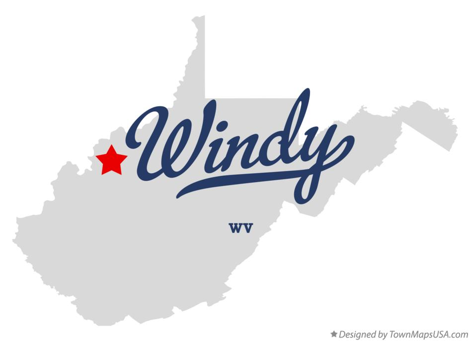Map of Windy West Virginia WV