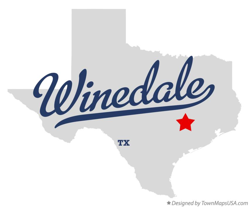 Map of Winedale Texas TX