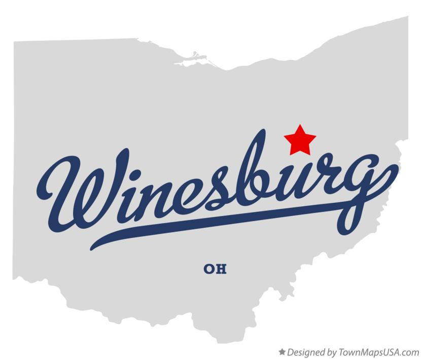 Map of Winesburg Ohio OH
