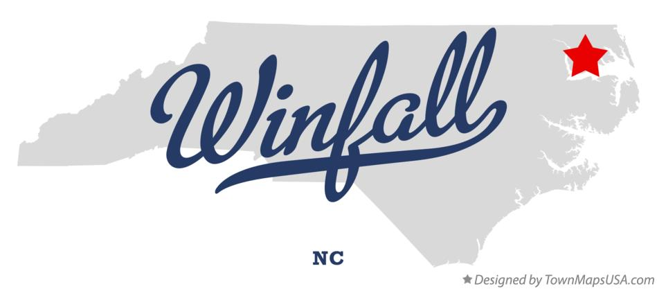 Map of Winfall North Carolina NC