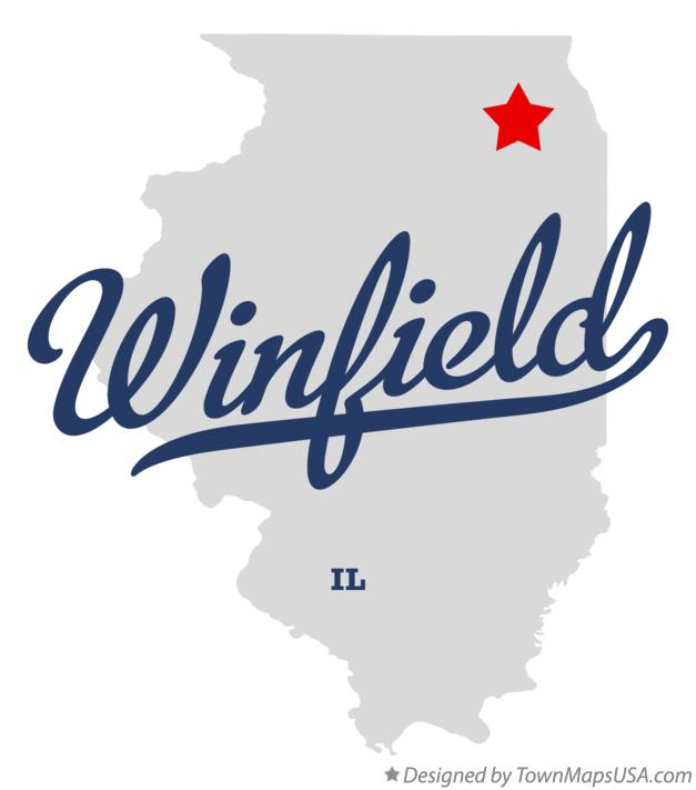 Map of Winfield Illinois IL