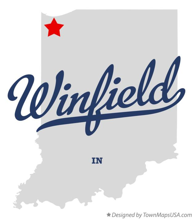 Map of Winfield Indiana IN
