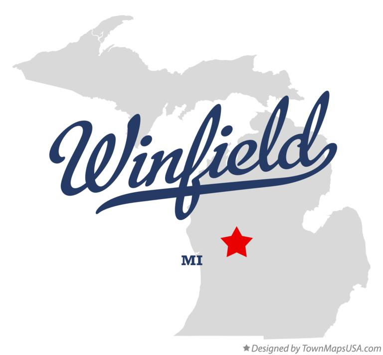 Map of Winfield Michigan MI