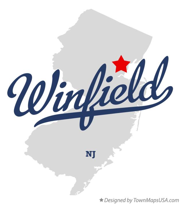 Map of Winfield New Jersey NJ