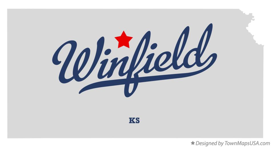 Map of Winfield Kansas KS