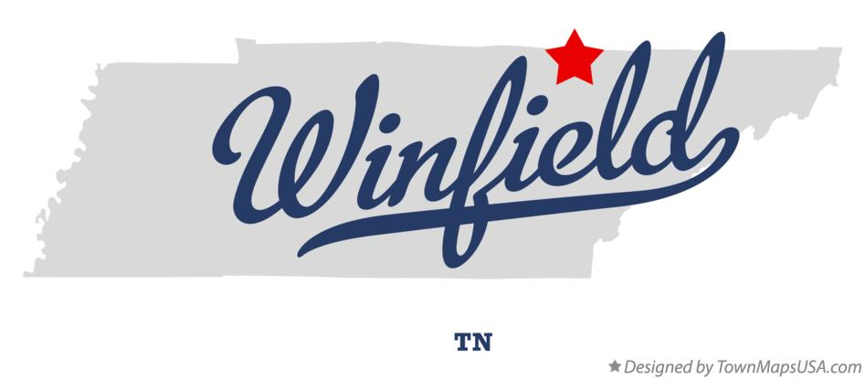 Map of Winfield Tennessee TN