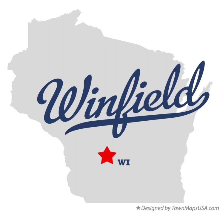 Map of Winfield Wisconsin WI
