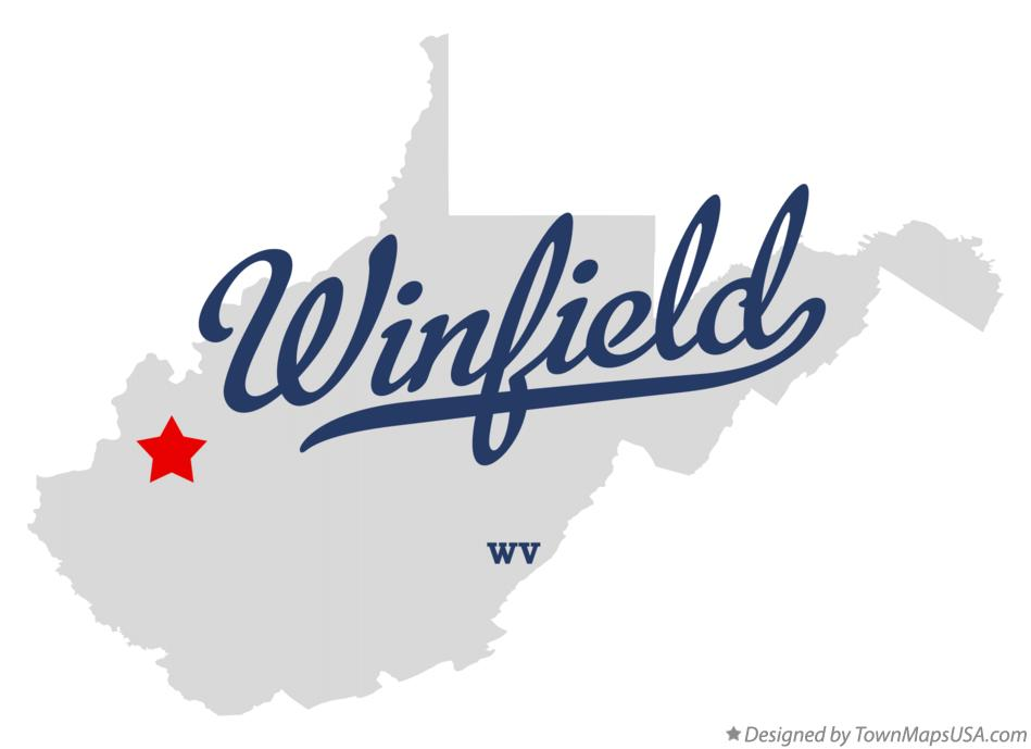 Map of Winfield West Virginia WV