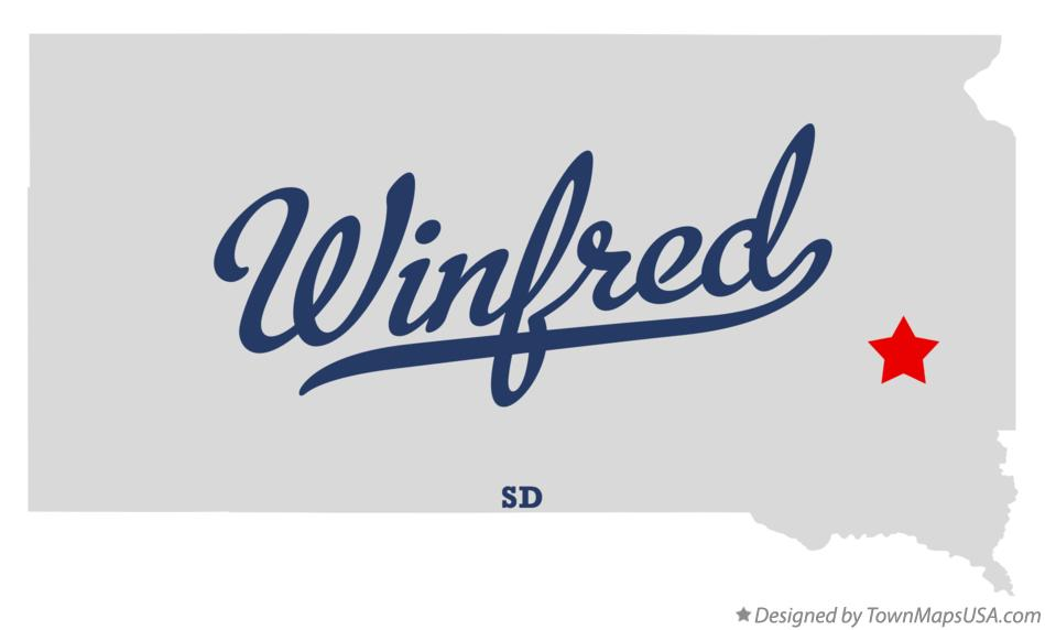 Map of Winfred South Dakota SD