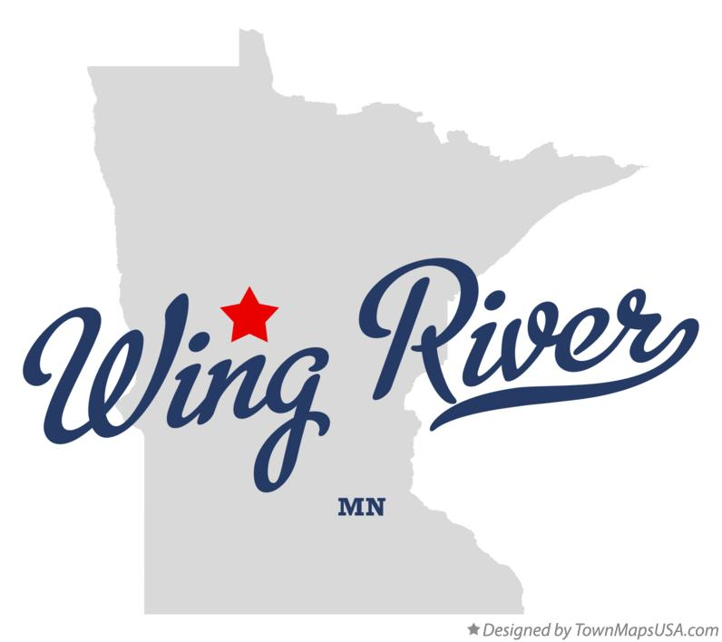 Map of Wing River Minnesota MN