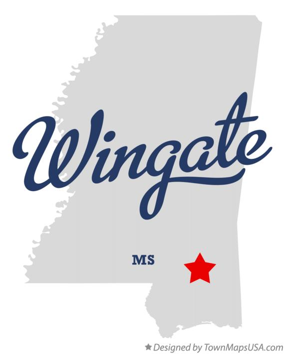 Map of Wingate Mississippi MS