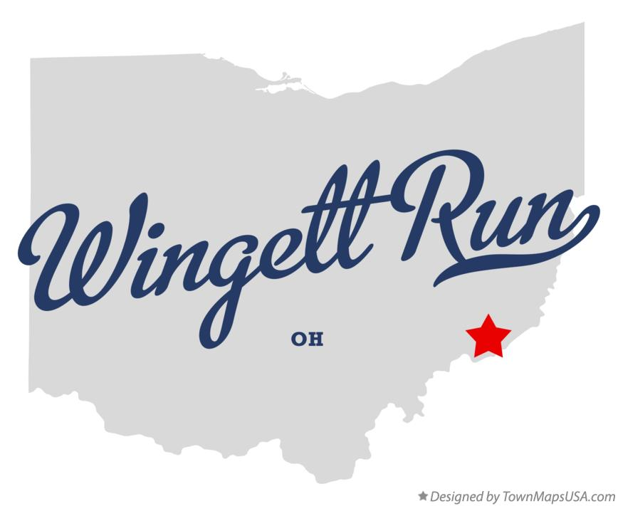 Map of Wingett Run Ohio OH