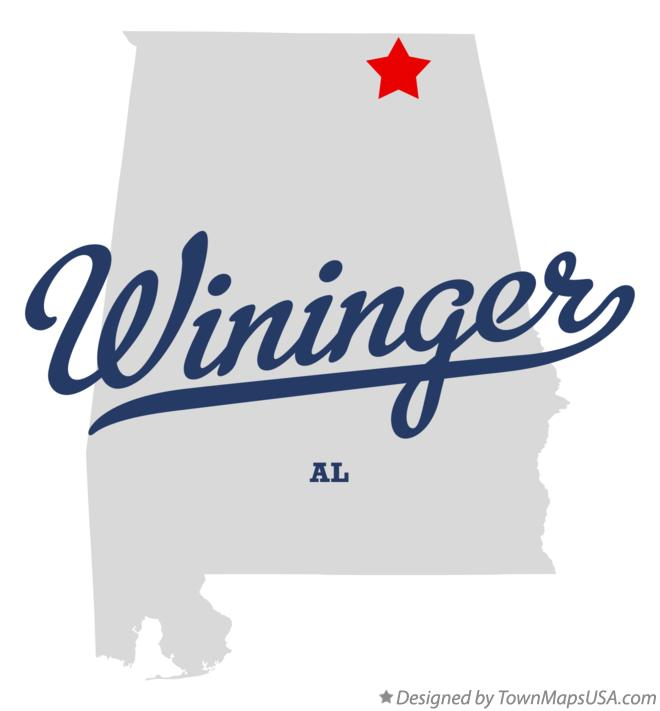 Map of Wininger Alabama AL