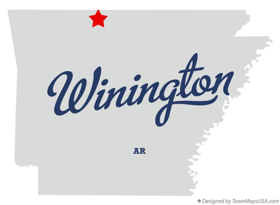 Map of Winington Arkansas AR