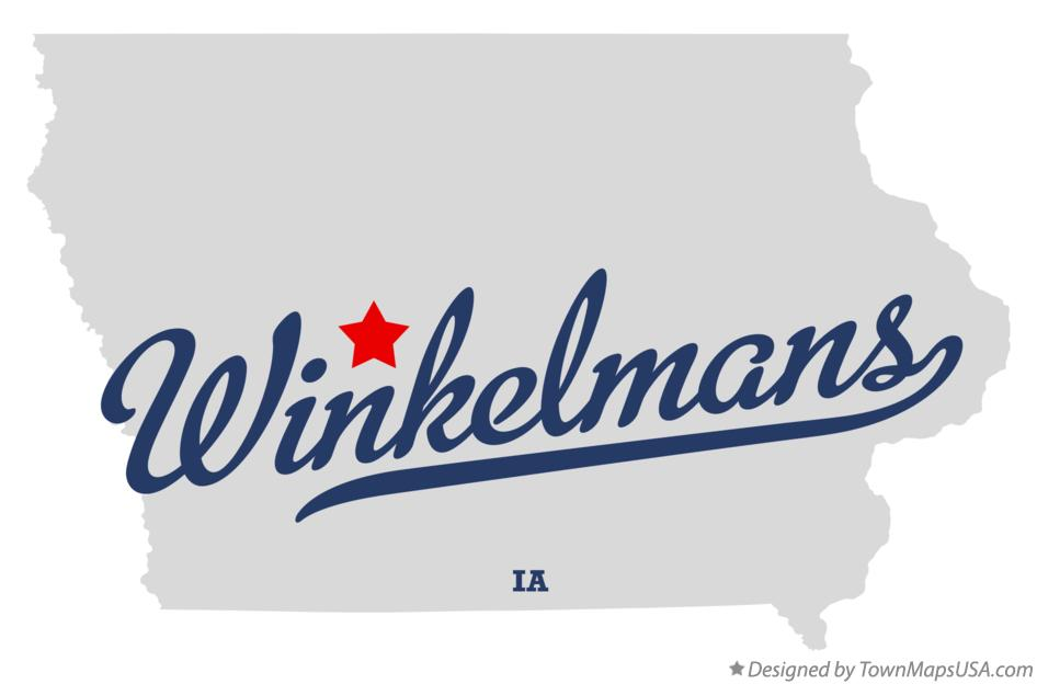 Map of Winkelmans Iowa IA