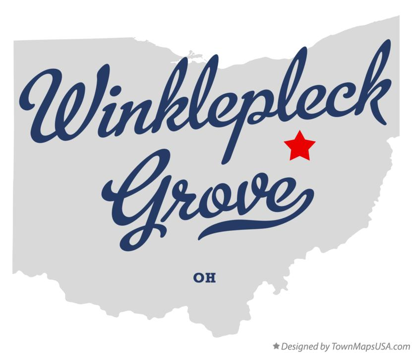 Map of Winklepleck Grove Ohio OH