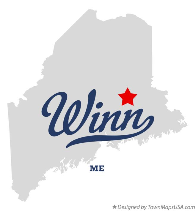 Map of Winn Maine ME