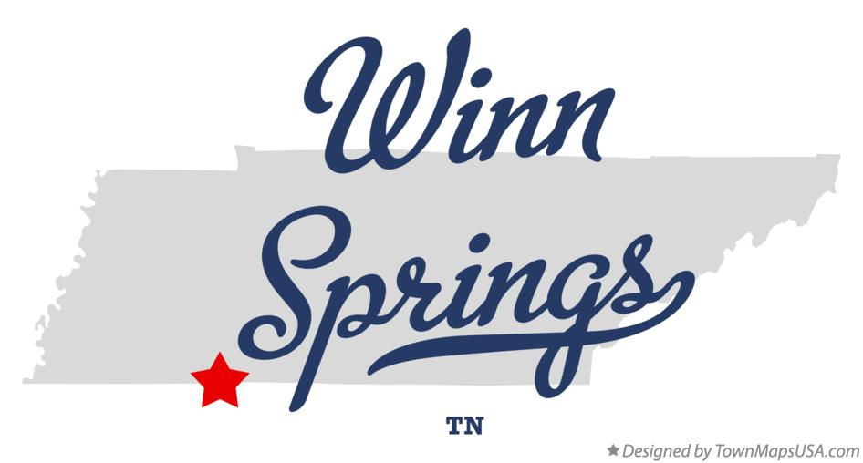 Map of Winn Springs Tennessee TN