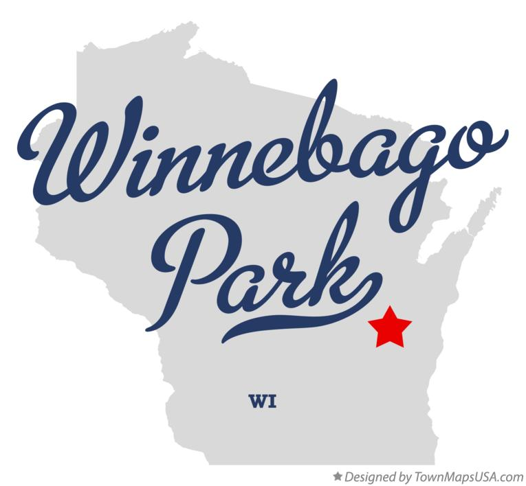 Map of Winnebago Park Wisconsin WI