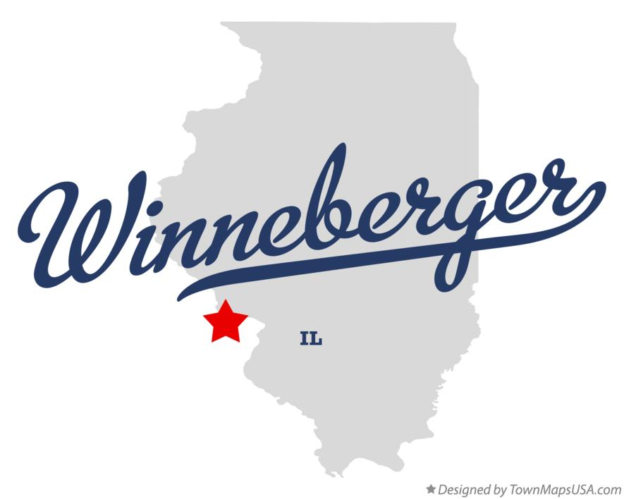 Map of Winneberger Illinois IL