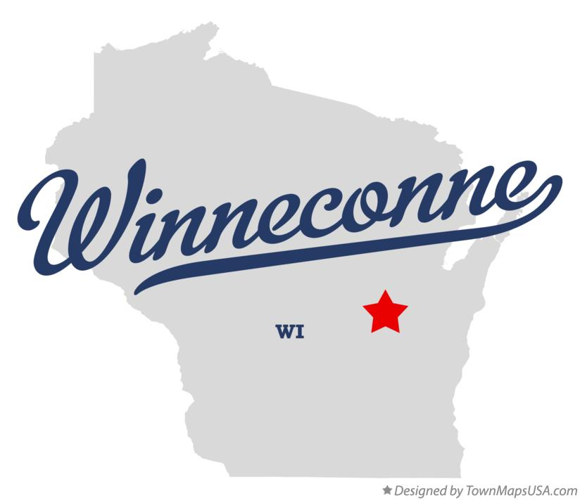 Map of Winneconne Wisconsin WI