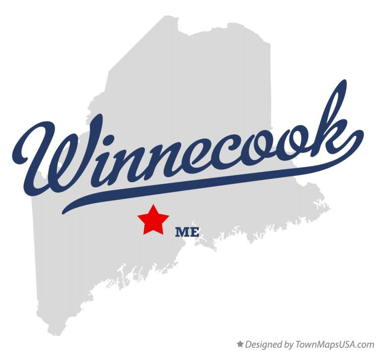 Map of Winnecook Maine ME