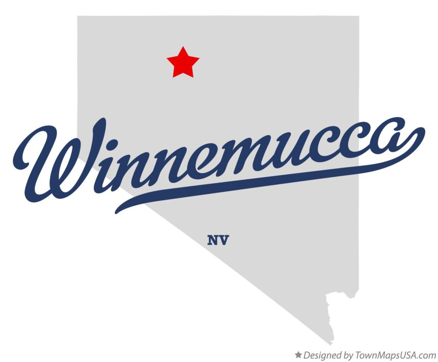 Map of Winnemucca Nevada NV