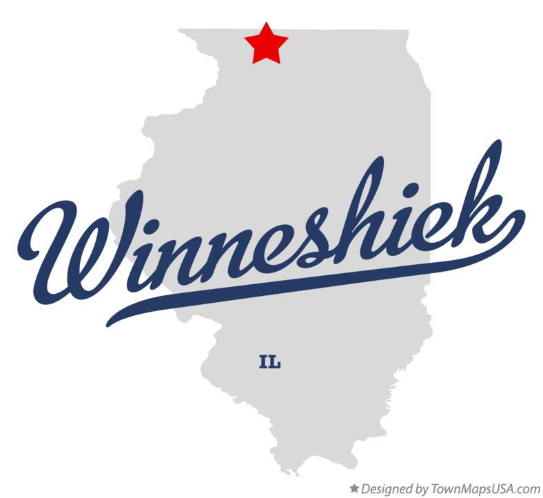 Map of Winneshiek Illinois IL