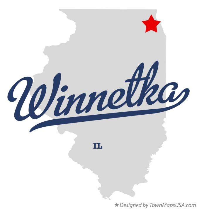 Map of Winnetka Illinois IL