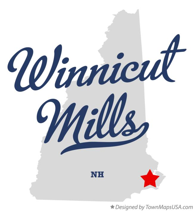 Map of Winnicut Mills New Hampshire NH
