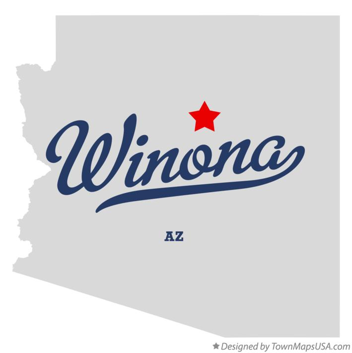 Map of Winona Arizona AZ