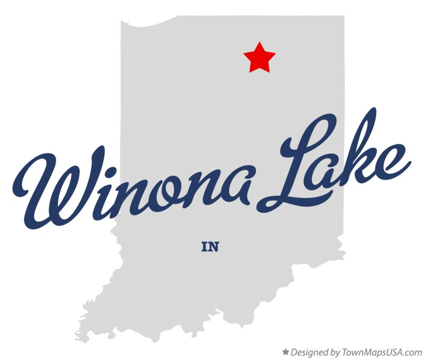 Map of Winona Lake Indiana IN