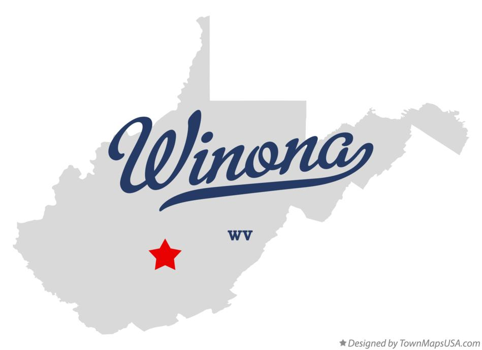 Map of Winona West Virginia WV