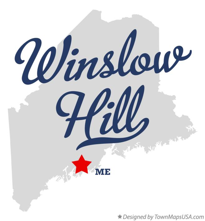 Map of Winslow Hill Maine ME