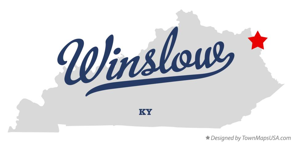Map of Winslow Kentucky KY