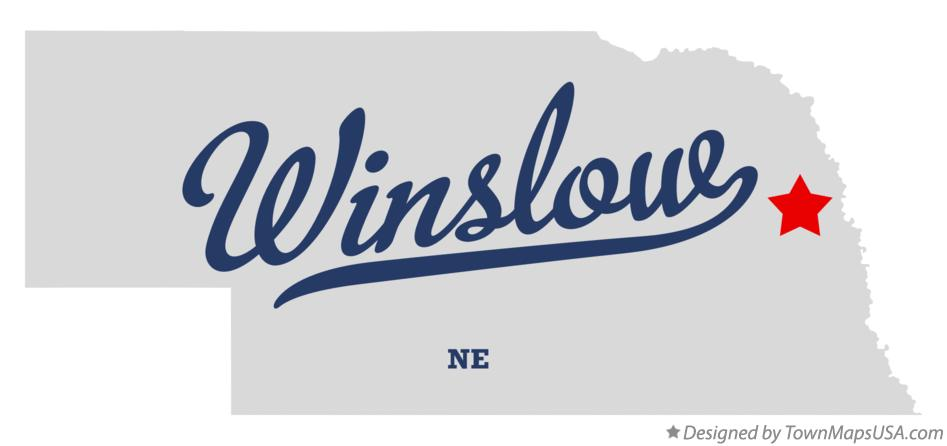 Map of Winslow Nebraska NE