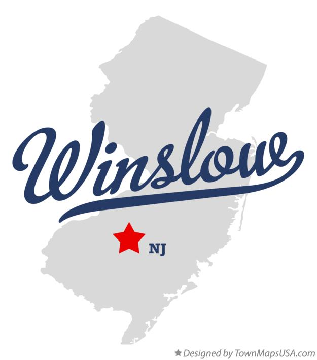 Map of Winslow New Jersey NJ