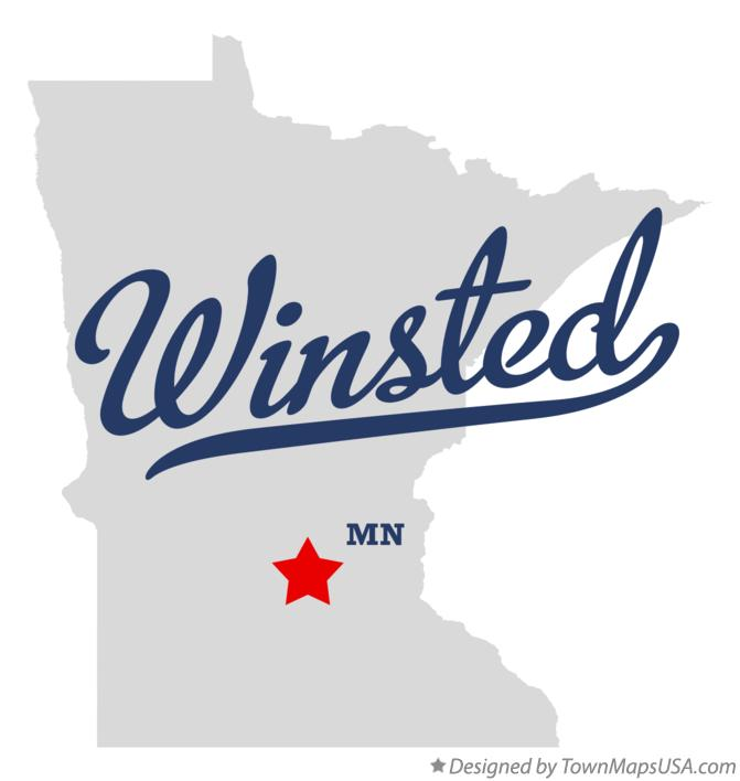 Map of Winsted Minnesota MN