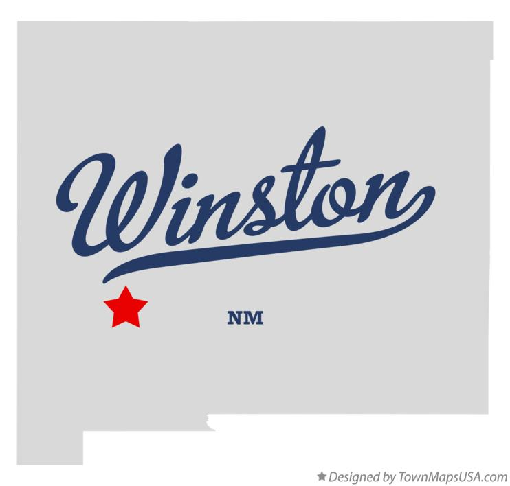 Map of Winston New Mexico NM