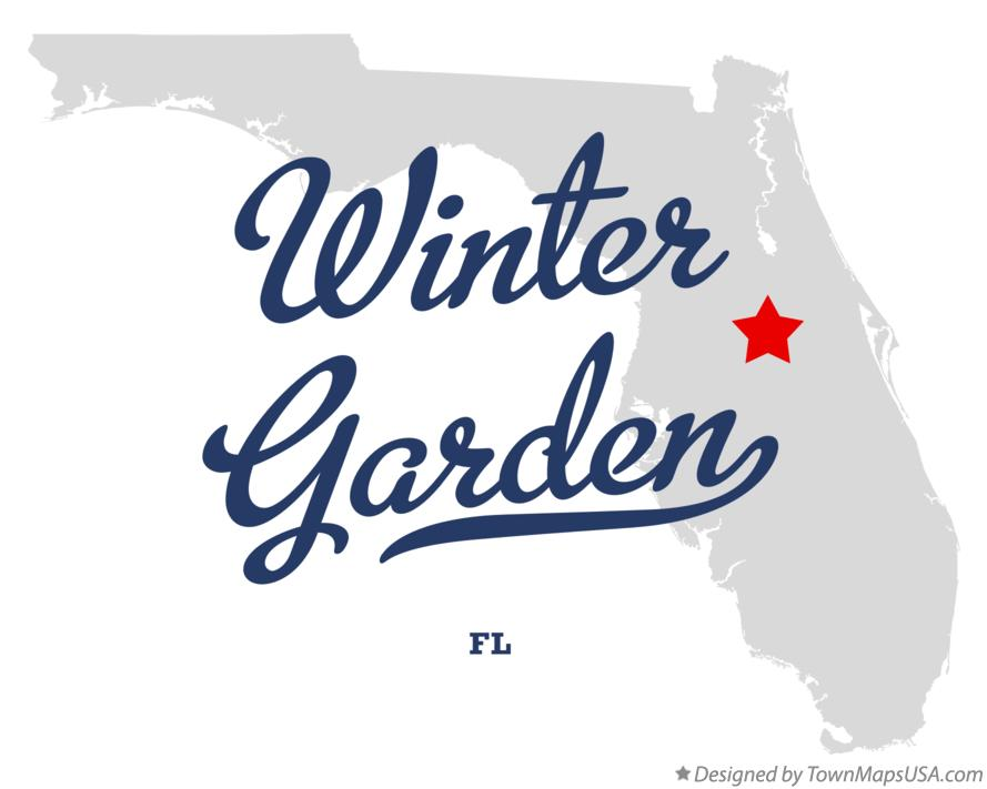 Winter Garden Florida Map.Map Of Winter Garden Fl Florida