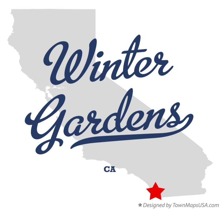 Map of Winter Gardens California CA