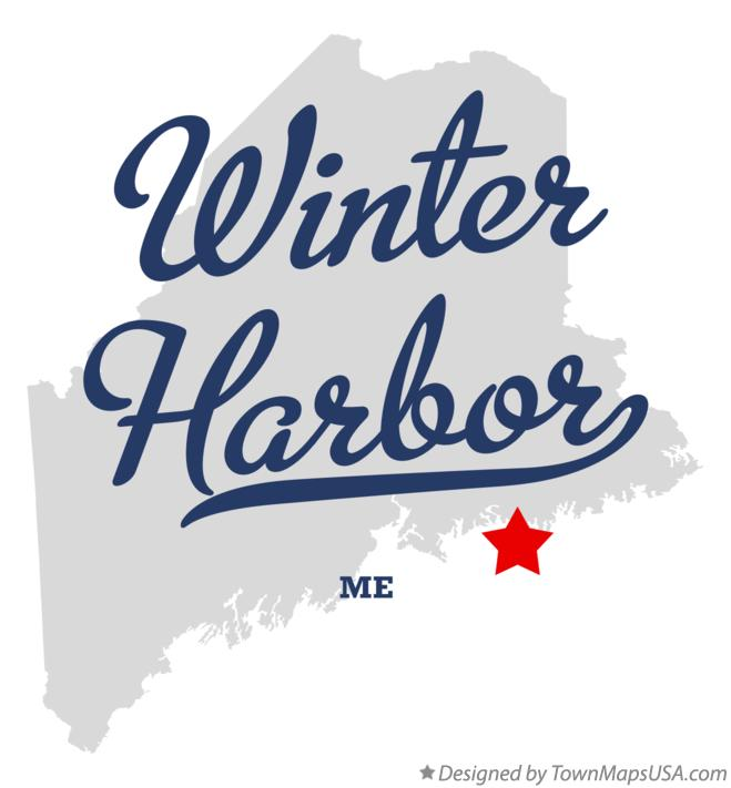 Map of Winter Harbor Maine ME