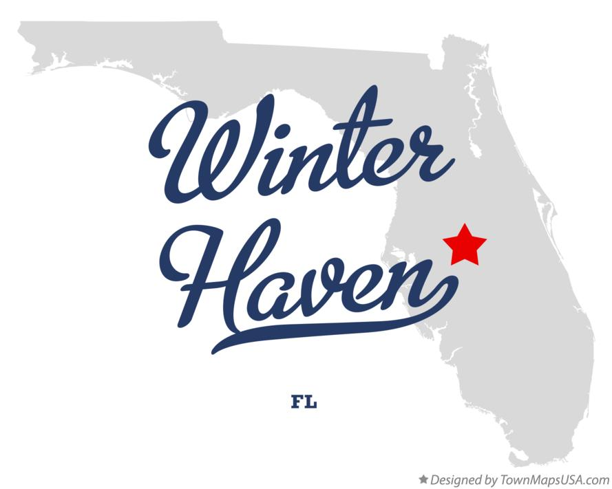 Map of Winter Haven Florida FL