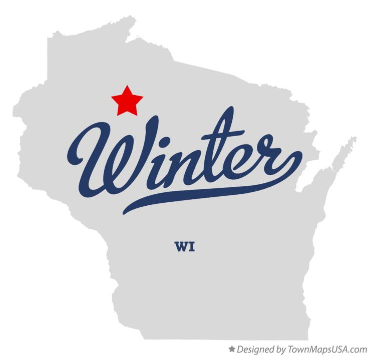 Map of Winter Wisconsin WI