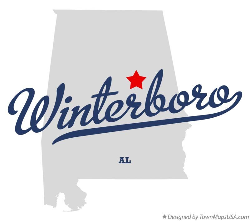 Map of Winterboro Alabama AL