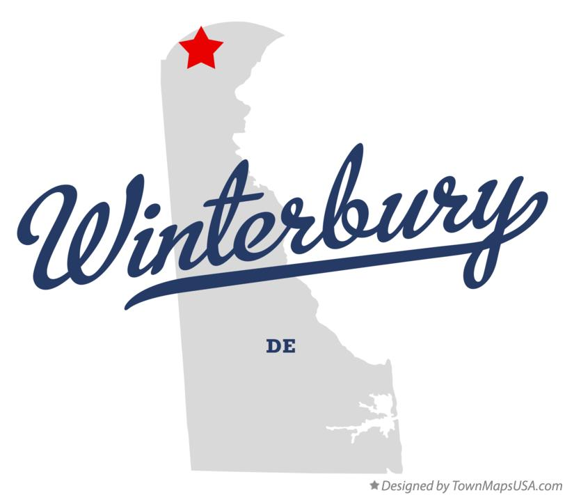 Map of Winterbury Delaware DE