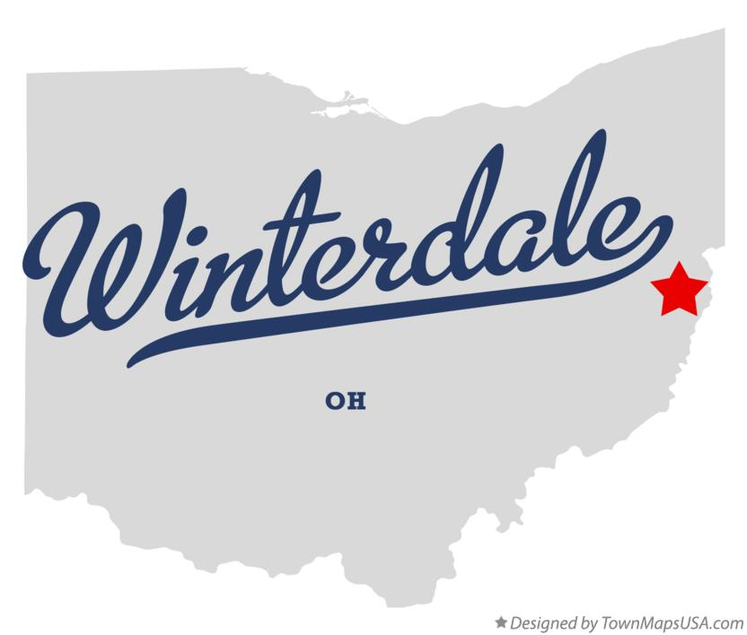 Map of Winterdale Ohio OH